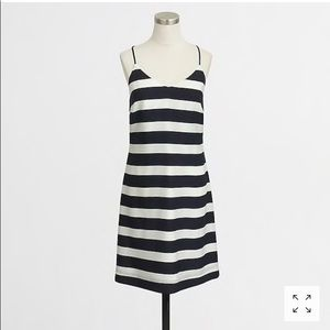 J Crew Striped Printed Tank Dress 6